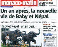 Article Monaco Matin, 13 Juillet 2014